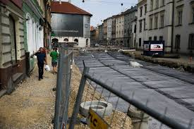 Cracow. The reconstruction of Krakowska Street is underway. It is laid, among others new track [PHOTOS]